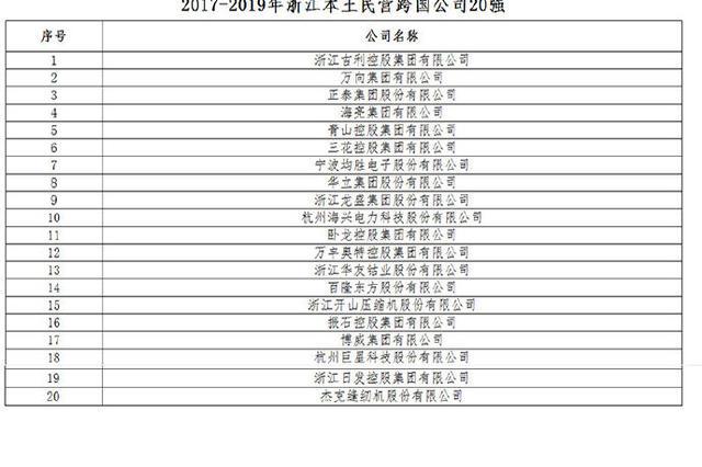 宁波三家企业上榜浙江本土民营跨国公司20强出炉