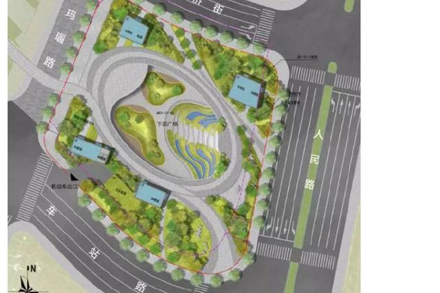宁波江北将新建人民广场 总面积约22033.33平方米