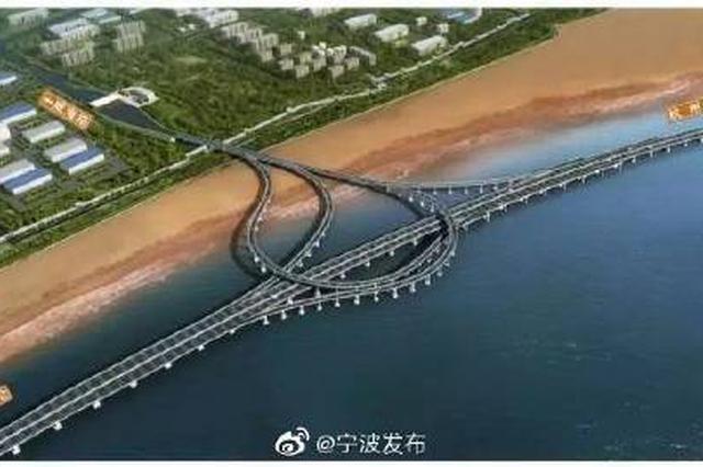 杭甬高速复线宁波段海域桥梁主体进入全面施工阶段