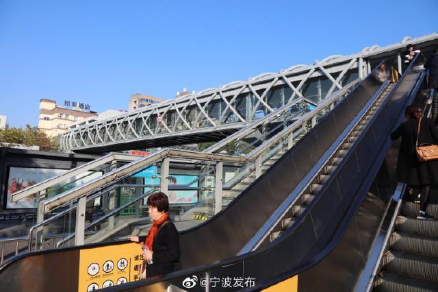 宁波妇儿医院人行天桥南侧垂直电梯恢复运行