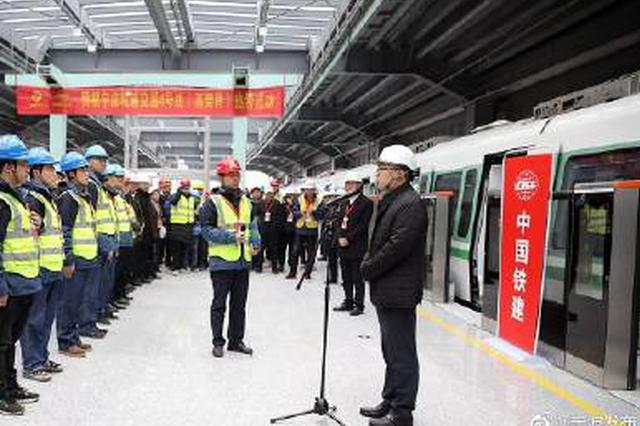 宁波4号线列车完成热滑试验 具备轨行区动车调试条件