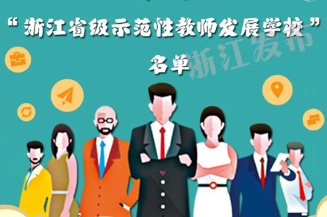 浙江省级示范性教师发展学校公布 宁波七所学校上榜