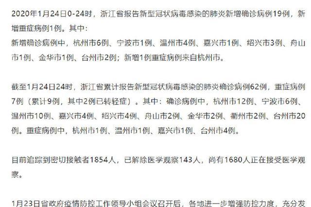 宁波新增确诊1例 累计确诊6例