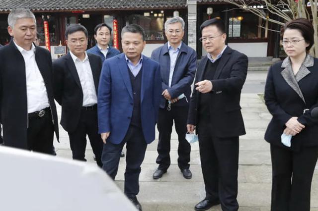 郑栅洁江北检查文明城市创建工作 提倡高标准常态化