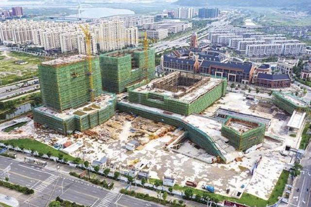象山大目湾城市广场工程主体封顶 为创钱江杯工程