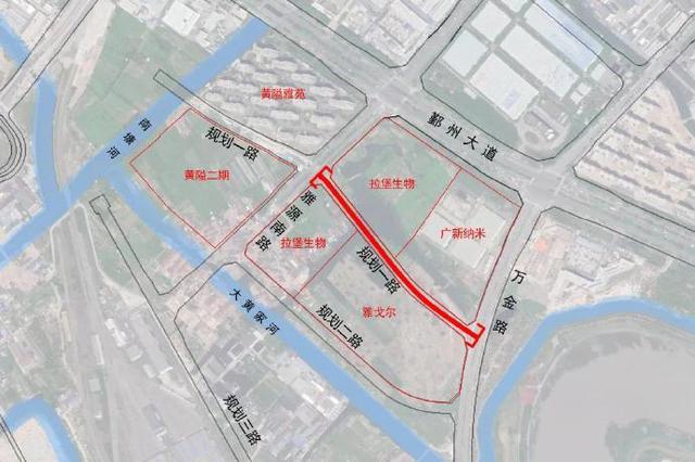 海曙黄隘片区将新建一条路 道路全长约0.476千米