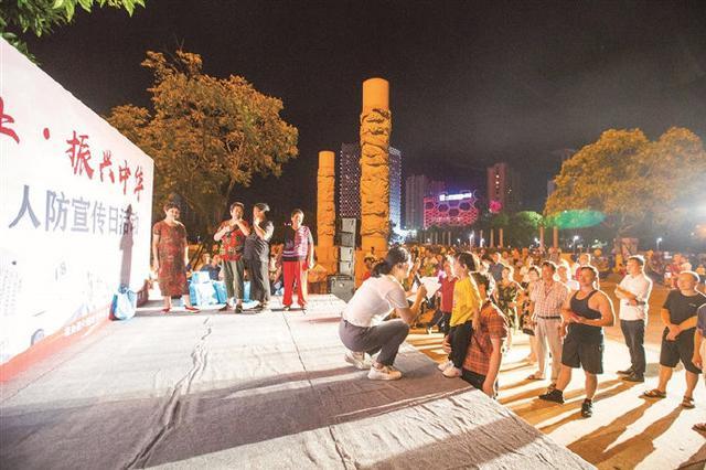 象山举行纪念九一八人防宣传活动 吸引市民驻足观看