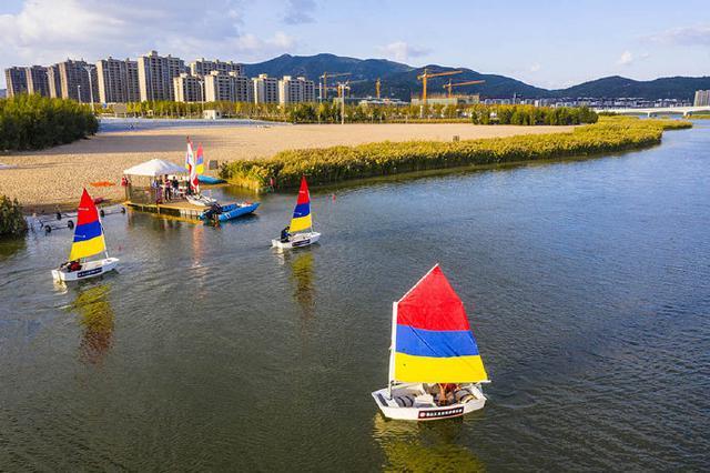 象山大目湾亲水湾入驻新项目 并举办首期帆船夏令营