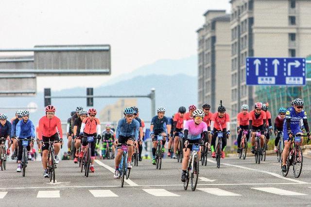 象山举办环象自行车骑游大赛 近千名骑行爱好者参加