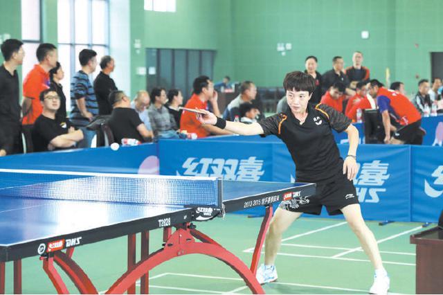 宁海举办天普杯乒乓球联谊赛 130多名选手参加比赛