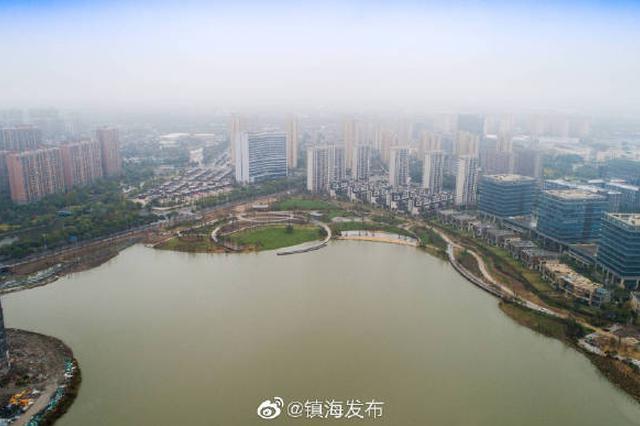 镇海新城南区同心湖公园迎来新进展 预计12月底竣工
