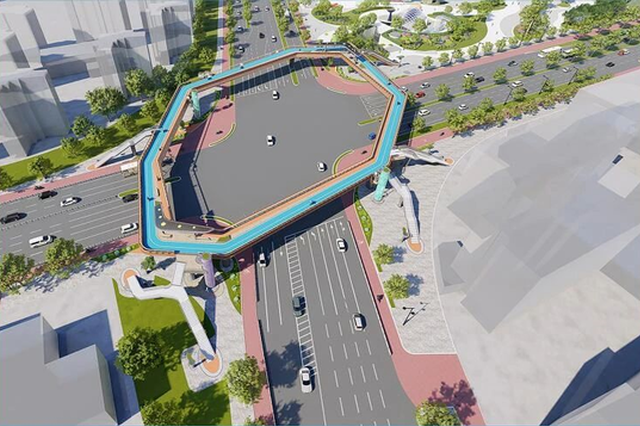 宁波儿童公园旁将新建一座环形人行天桥 总长约293米