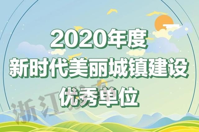 宁波市获评2020年度新时代美丽城镇建设优秀区市