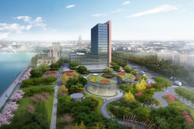 甬三江六岸书城南地块绿化工程开工 预计2022年建成