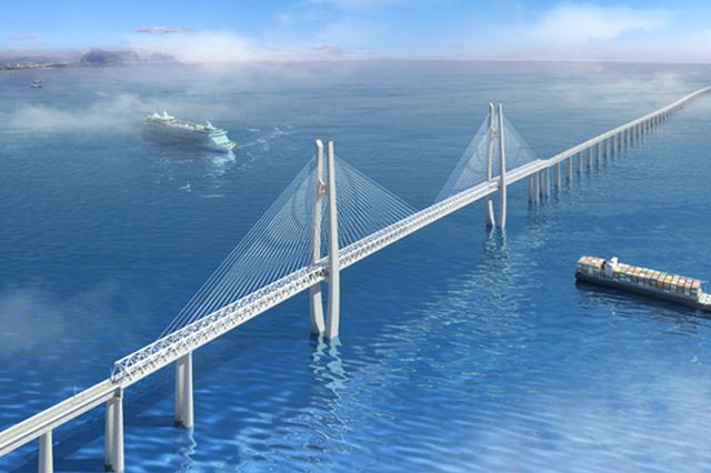 通苏嘉甬铁路杭州湾大桥进入滩涂区施工 工期1个月
