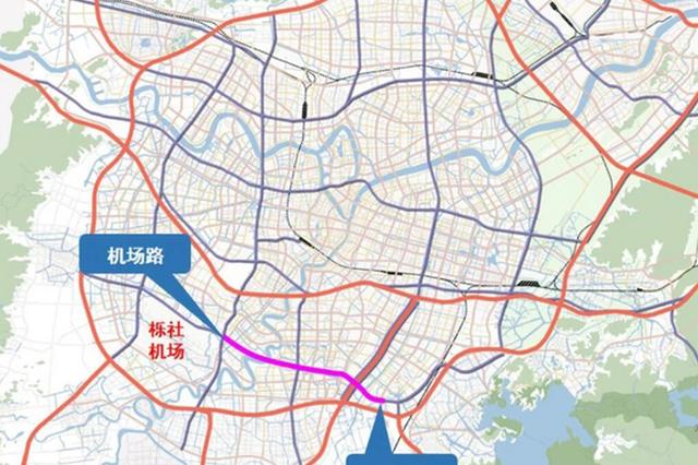 鄞州大道快速路工程目前正在公示中 全长约9公里