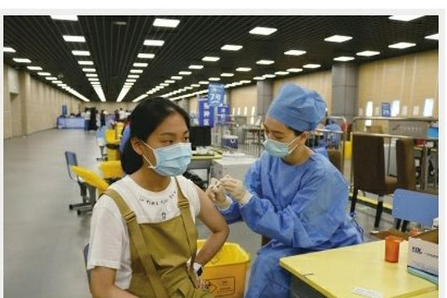 江北奥体中心启动15-17岁青少年新冠疫苗集中接种