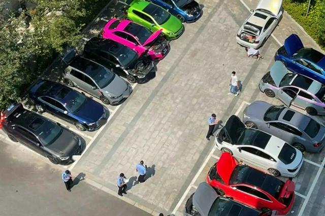 宁波交警开展突击行动 21辆涉嫌非法改装车辆被查