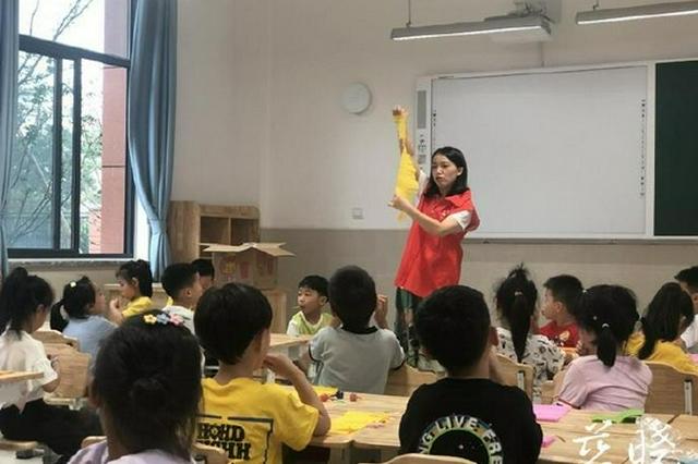 引进社会资源 慈溪文锦书院志愿服务进校园助力双减