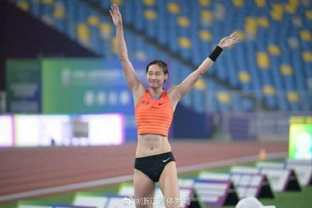 全运会田径项目女子撑杆跳 宁波运动员李玲夺得金牌
