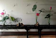 一场书画与花艺在宁波邂逅
