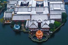 宁波:雪落月湖
