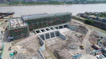 江北最大强排泵站主体完工