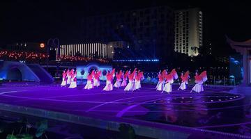 端午诗会在宁波文化广场水艺舞台上演