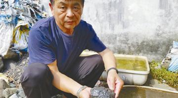 宁波1男子6年收藏陨石70吨