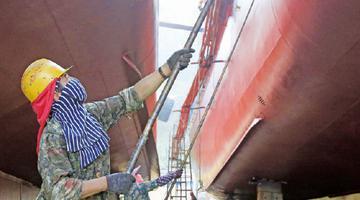 象山石浦油漆工战酷暑迎开渔