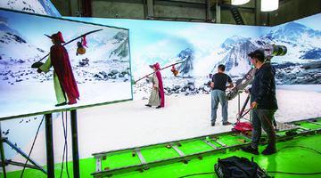 象山影视城LED屏画质达到12K效果