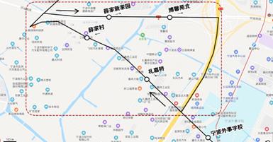 宁波两条公交线路调整运行 缓解薛家南路口交通压力