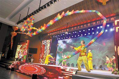 慈溪举办我们的村晚活动 现场千余位村民体验年味