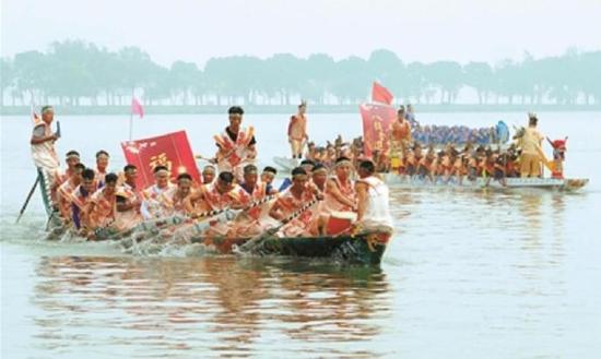 东钱湖陶公村画船民俗文化节开幕 再现当地旧时盛况