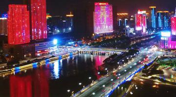 宁波三江口的灯光秀惊艳极了