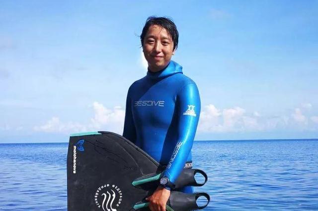 宁波小伙再破自由潜水亚洲纪录 成亚洲游得最深的人