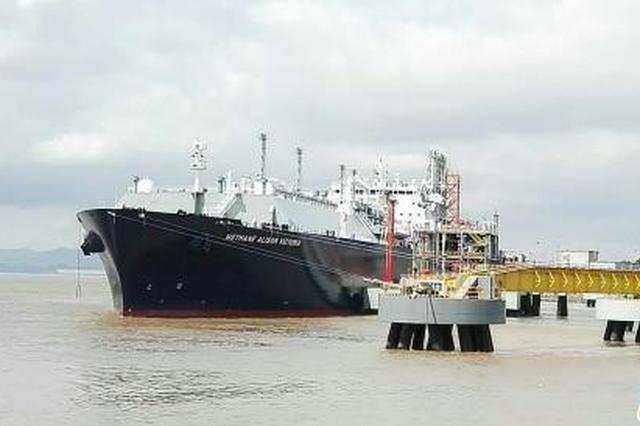 2017年浙江宁波口岸进口天然气358万吨
