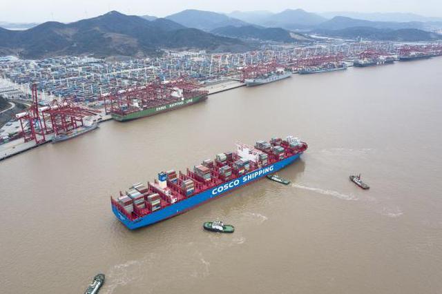 全球10亿吨大港宁波舟山港后劲不减 新年喜迎首月开门红