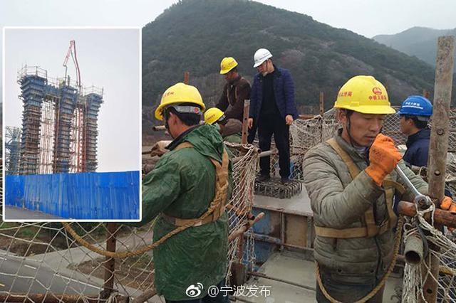 三门湾大桥施工忙 已完成承台墩身共4次混凝土浇筑