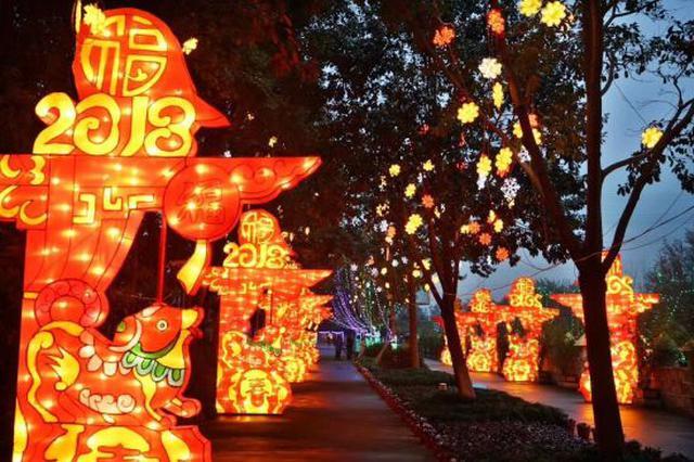宁波天宫庄园自贡艺术灯会年味浓