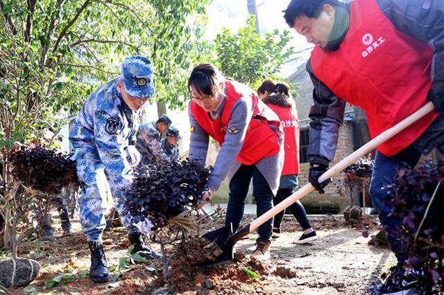 全民参与义务植树 宁波江北白沙无物业小区绿意盎然