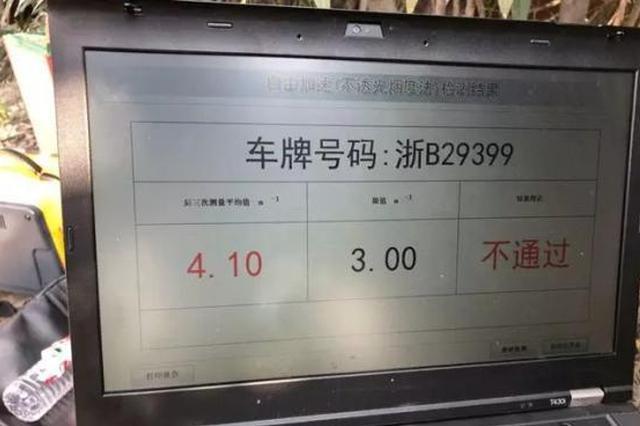 宁波开出浙江首张机动车尾气超标罚单 罚二百15天内整改