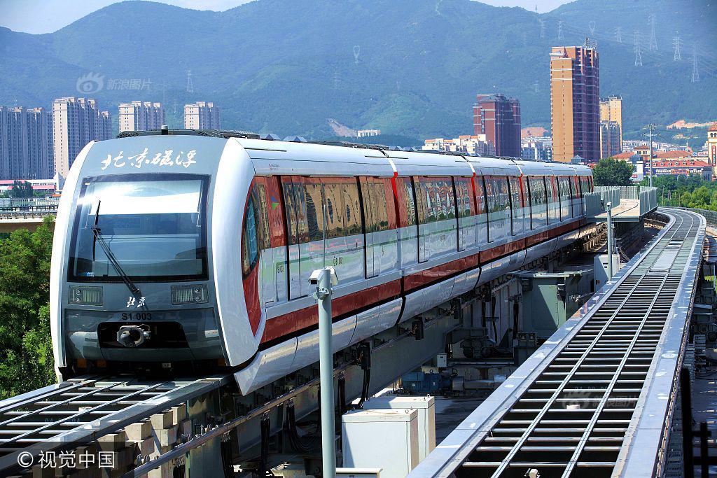 范线,又称北京地铁S1线,目前正在轨道测试运行.S1线是北京首图片