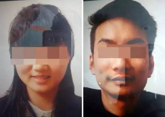 两名遭绑架的中国公民照片。