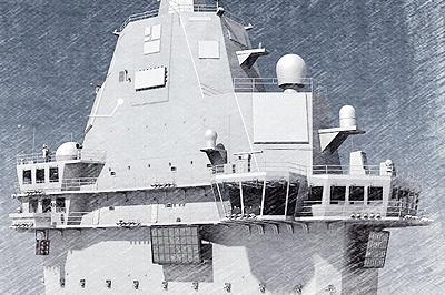 国产航母舰岛CG图再来!雷达已经隐身处理