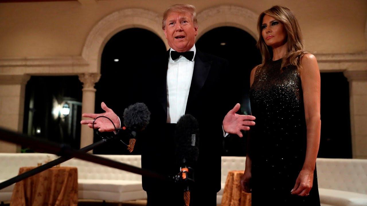 """视频:美第一夫人说新年愿望""""世界和平"""" 遭特朗普拆台"""