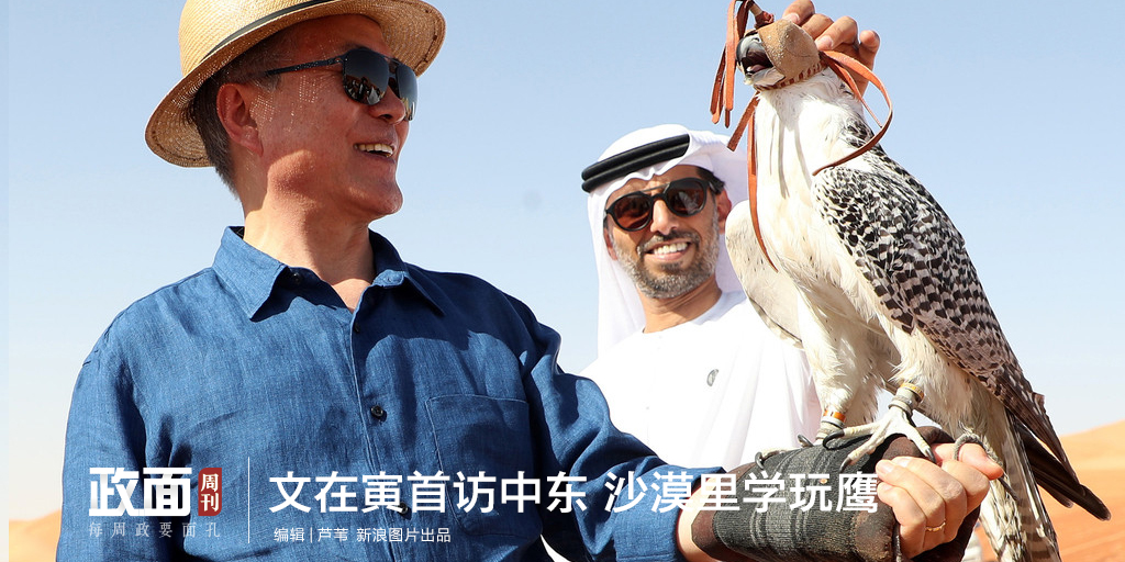 新浪图片《政面》29期:文在寅首访中东 沙漠里学玩鹰