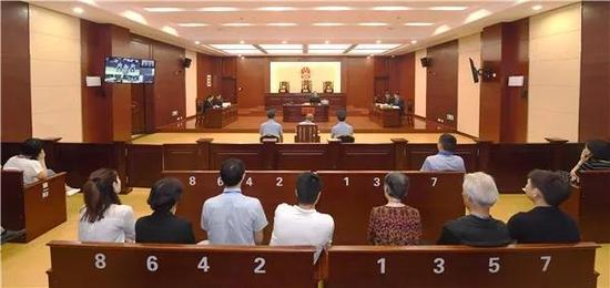 ▲庭审现场。图据江西省高院