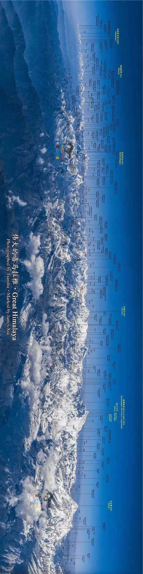 川大教授拍出震撼喜马拉雅山脉雪山图 网友赞伟大|喜马拉雅