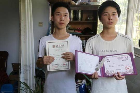 学霸双胞胎高考成绩差3分:哥哥上北大 弟弟上清华